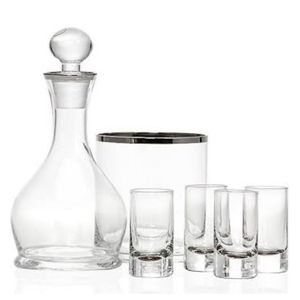 Liquor Toasting Bar Set Silver